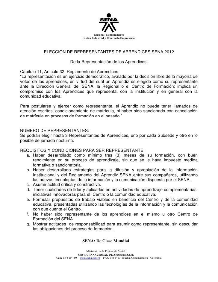 Regional Cundinamarca                                       Centro Industrial y Desarrollo Empresarial            ELECCION...