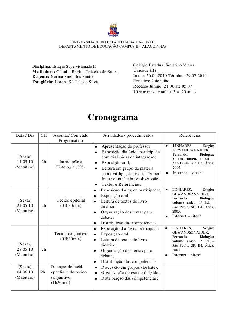 UNIVERSIDADE DO ESTADO DA BAHIA– UNEB                        DEPARTAMENTO DE EDUCAÇÃO CAMPUS II – ALAGOINHAS             D...