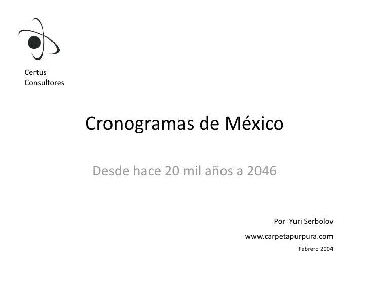 Certus Consultores                    CronogramasdeMéxico                 Desdehace20milañosa2046             ...