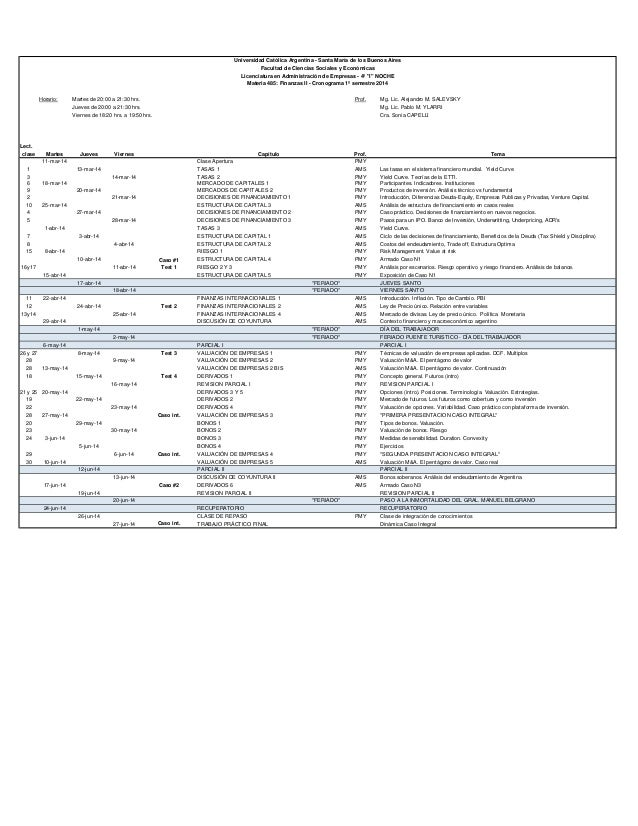 Horario: Martes de 20:00 a 21:30 hrs. Prof. Mg. Lic. Alejandro M. SALEVSKY Jueves de 20:00 a 21:30 hrs. Mg. Lic. Pablo M. ...