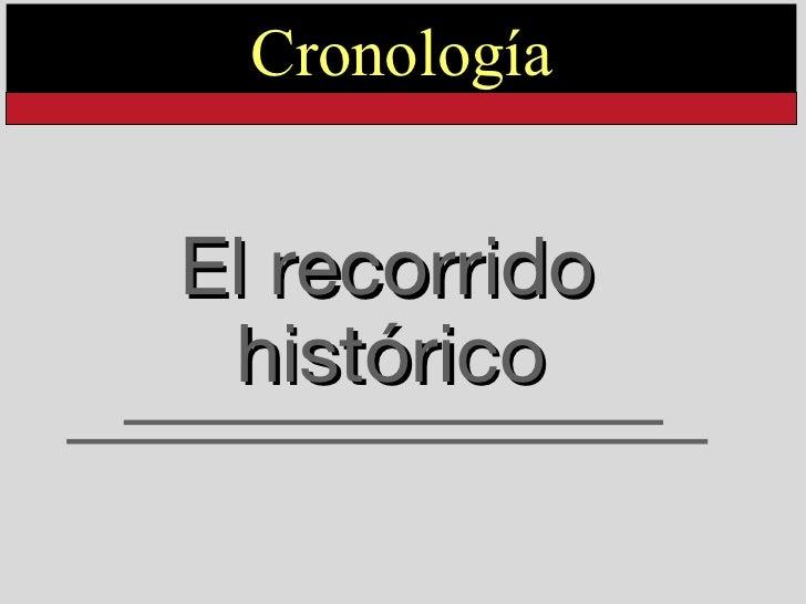 El recorrido histórico   Cronología