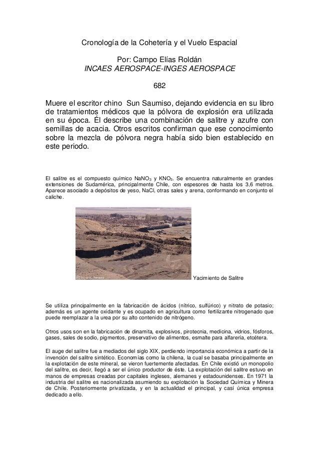 Cronología de la Cohetería y el Vuelo Espacial  Por: Campo Elías Roldán  INCAES AEROSPACE-INGES AEROSPACE  682  Muere el e...
