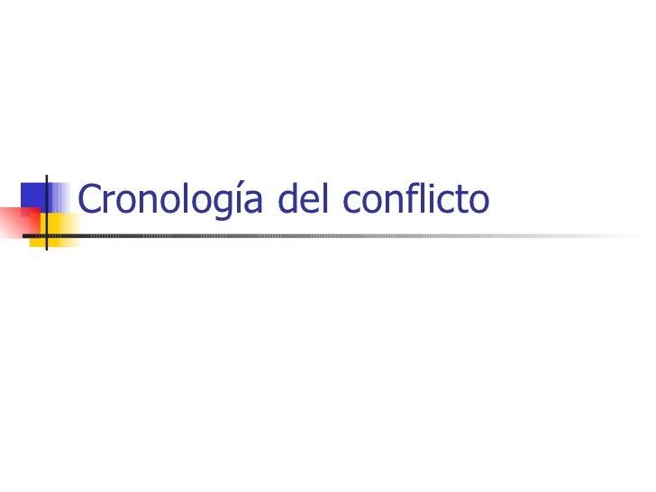 Cronología del conflicto