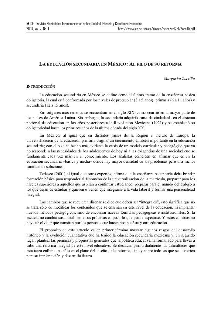 REICE - Revista Electrónica Iberoamericana sobre Calidad, Eficacia y Cambio en Educación2004, Vol. 2, No. 1               ...