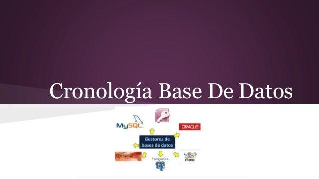 Cronología Base De Datos