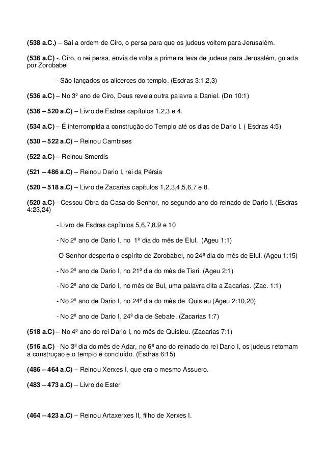 Cronologia Bíblica 539 a 425 a.C (2/2) Slide 2