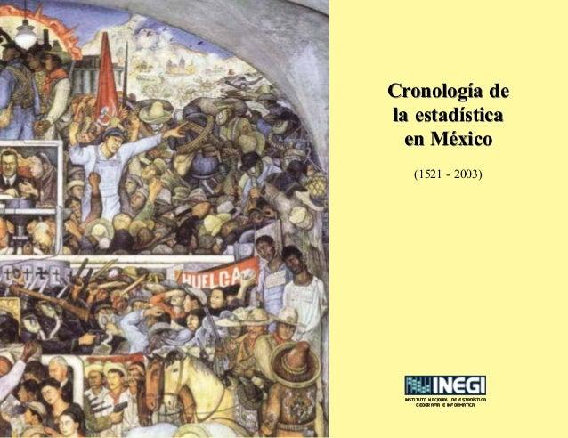 INSTITUTO NACIONAL DE ESTADISTICA GEOGRAFIA E INFORMATICA ´ ´ ´ Cronología de la estadística en México Cronología de la es...