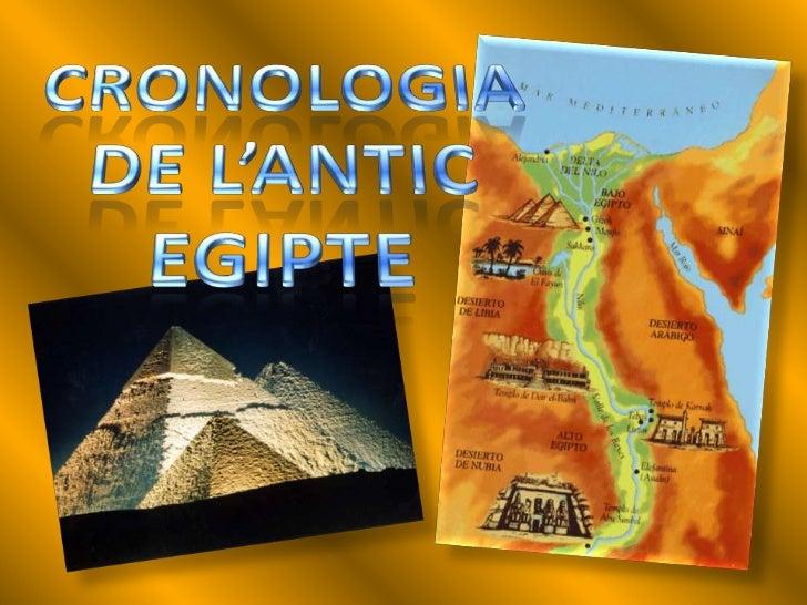 1. CRONOLOGIA DE L'EGIPTE ANTIC    La civilització egípcia es va desenvolupar durant uns 3000 anys, en els quals es van   ...