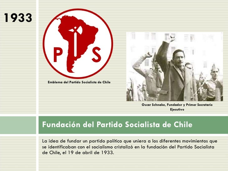 Cronolog a pol tica chile primera mitad siglo xx - Fundar un partido politico ...