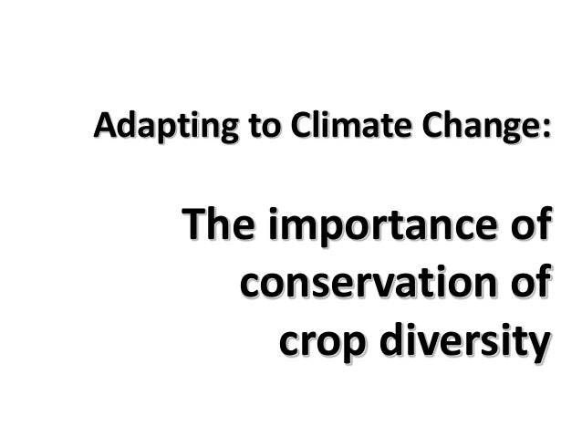 Adapting to Climate Change: The importance of conservation of crop diversity