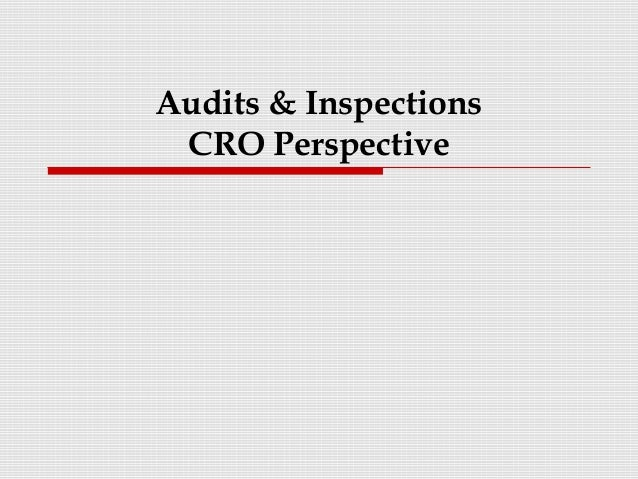 Audits & InspectionsCRO Perspective