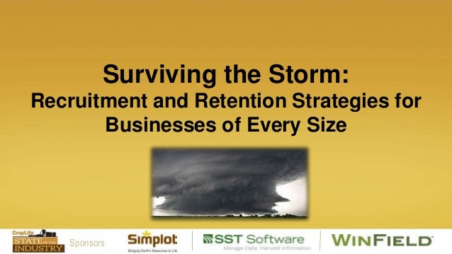 Surviving the Storm: Recruitment and Retention Strategies for Businesses of Every Size  Sponsors