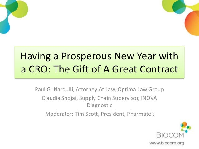 Having a Prosperous New Year with Your CRO: The Gift of a Great Contr…