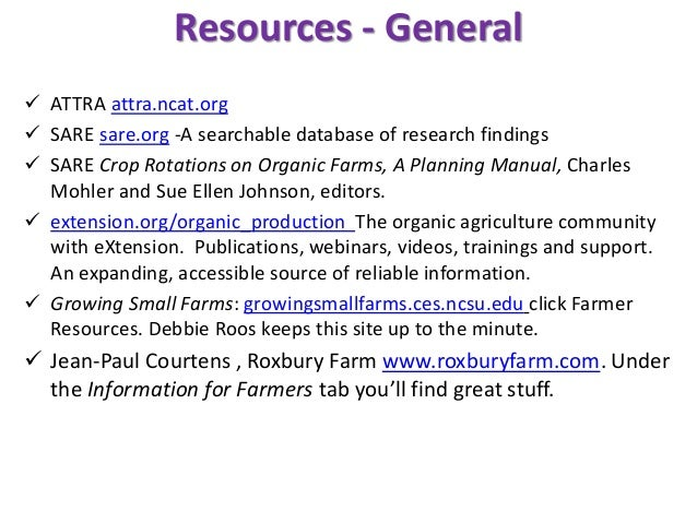 Resources - books  The Complete Know and Grow Vegetables, J K A Bleasdale, P J Salter et al.  Knott's Handbook for Veget...