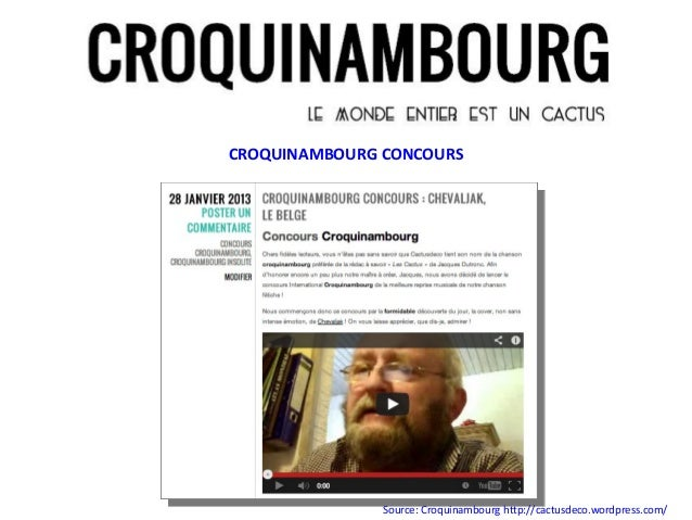 CROQUINAMBOURG CONCOURS               Source: Croquinambourg http://cactusdeco.wordpress.com/
