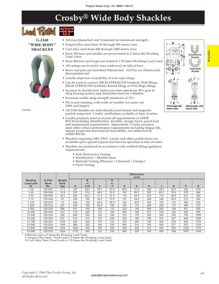 6-1//2 Ton Working Load Limit Self-Colored Crosby 1019301 Carbon Steel S-210 Screw Pin Chain Shackle 7//8 Size