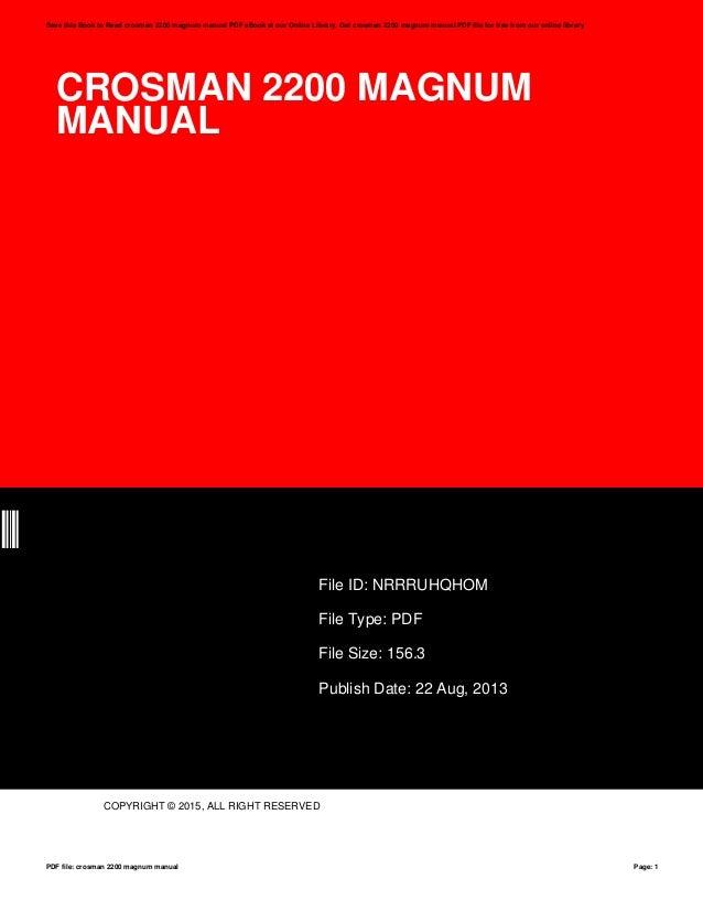 crosman 2200 magnum manual rh slideshare net crosman 2200 magnum parts diagram Crosman 2200 Pellet Rifle