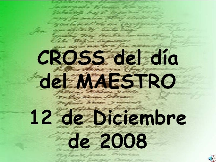 CROSS del día del MAESTRO 12 de Diciembre de 2008