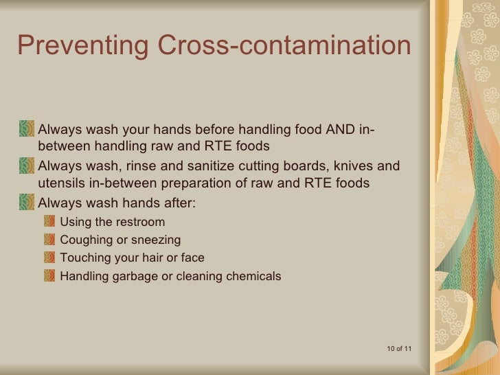 how to avoid food contamination