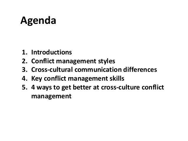 five indirect conflict management strategies Module five: managing and resolving conflicts 28 unit 51  a model conflict  resolution strategy 37 3  521 indirect conflict management approaches.