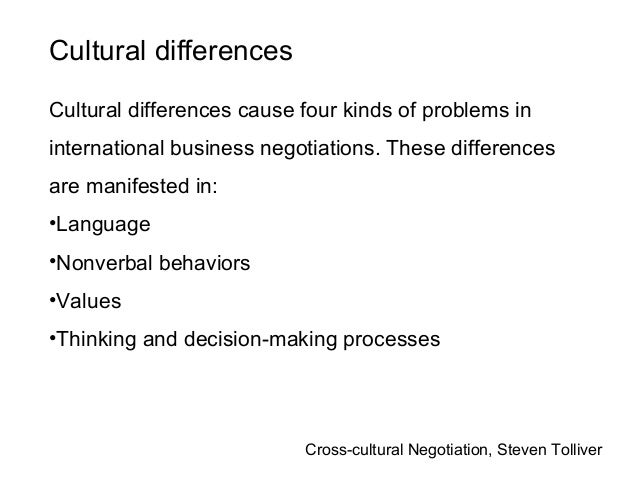 cross cultural negotiations Beyond the basics of conflict management and negotiation lie areas of greater complexity one such area is the realm of culture though culture includes etiquette and behavior, at a deeper level it is about deeply ingrained attitudes and assumptions.