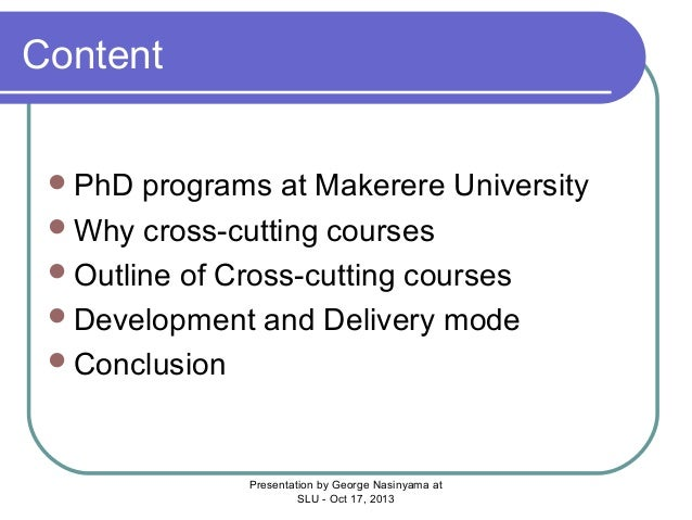 Phd by course work