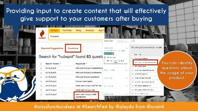 #crossfunctionalseo at #SearchFest by @aleyda from @orainti Providing input to create content that will effectively give s...