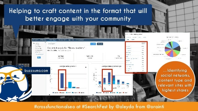 #crossfunctionalseo at #SearchFest by @aleyda from @orainti Helping to craft content in the format that will better engage...
