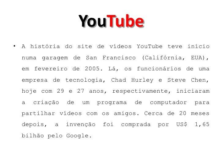 beeca81a6ae YouTube• A história do ...