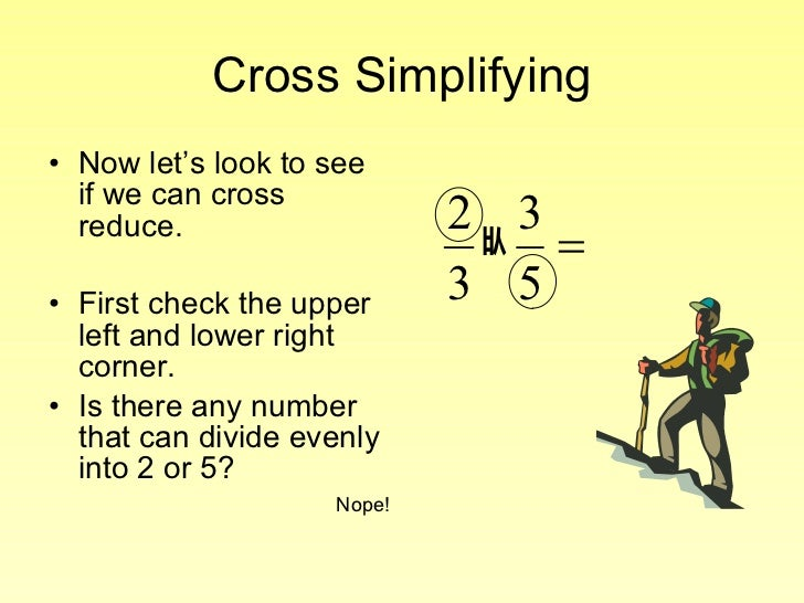 Cross Reducing – Cross Cancelling Fractions Worksheet
