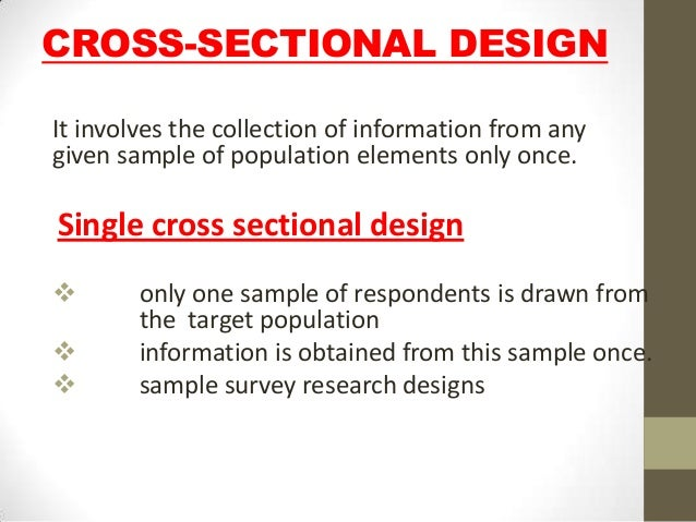 Cross Sectional Design