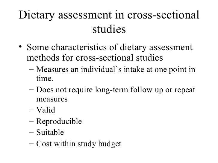 13 Dietary Assessment In Cross Sectional Studies