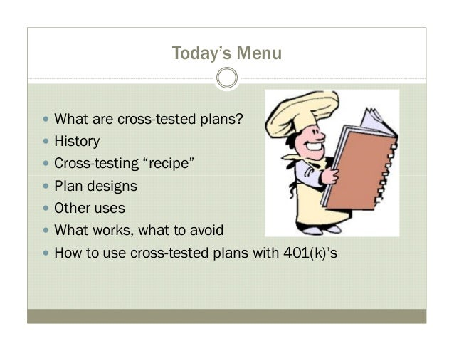 Cross tested plans - how-to & examples Slide 2