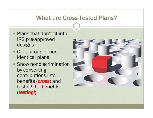 Cross tested plans - how-to & examples Slide 3