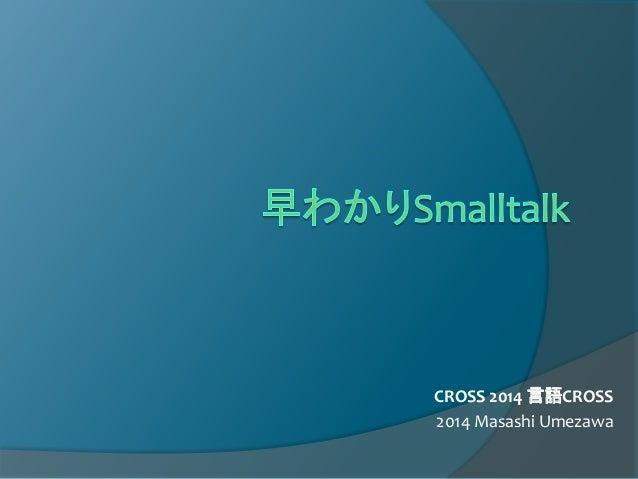 CROSS 2014 言語CROSS 2014 Masashi Umezawa