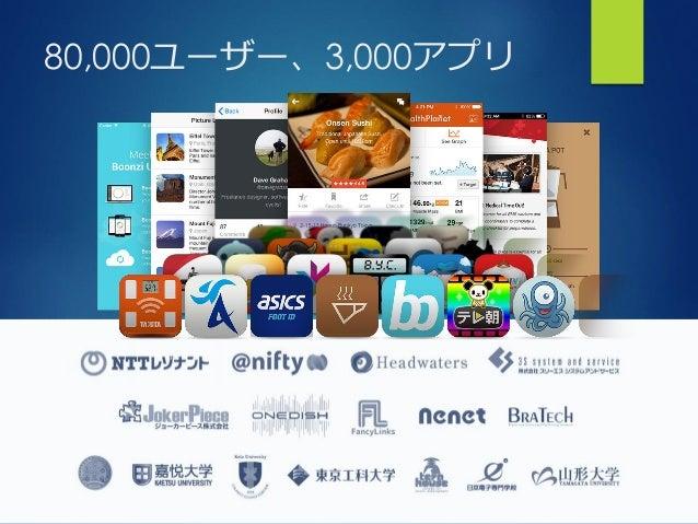 詳細はこちらから https://ja.monaca.io ありがとうございました Twitter: @massie E-mail: masahiro@asial.co.jp Masahiro Tanaka Founder & CEO, Asi...