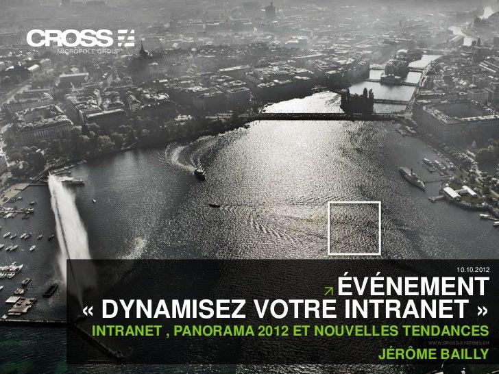 10.10.2012                                        ÉVÉNEMENT                       « DYNAMISEZ VOTRE INTRANET »            ...
