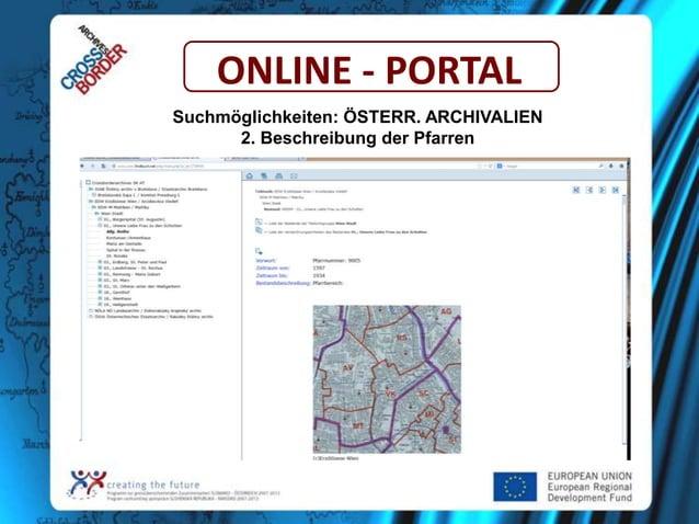 ONLINE - PORTAL Suchmöglichkeiten: ÖSTERR. ARCHIVALIEN 2. Beschreibung der Pfarren