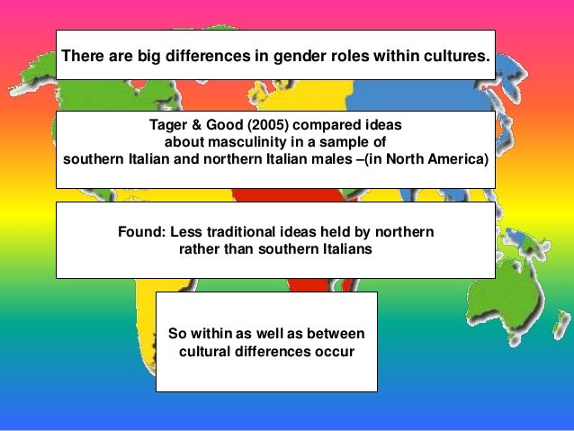 cultutral gender roles Free essay on culture determines gender roles available totally free at echeatcom, the largest free essay community.