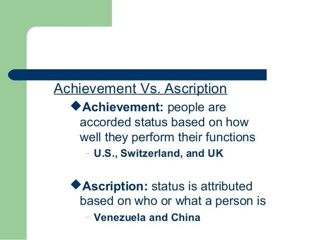 achievement vs ascription