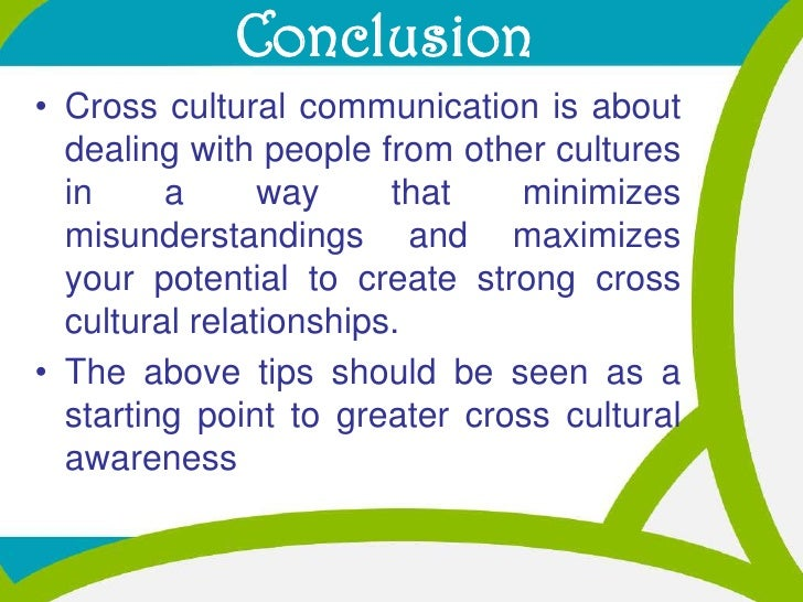 cultural misunderstanding essay The problem addressed in this paper is the cultural misunderstandings, in particular between the american and the chinese the conclusion from this paper.