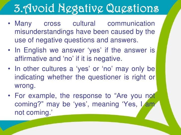 cross cultural communication report