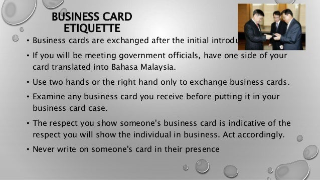 Cross cultural communication malaysia business card etiquette reheart Choice Image