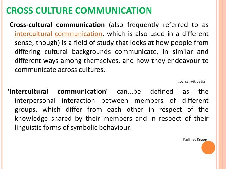 The effects of cross culture in speaking