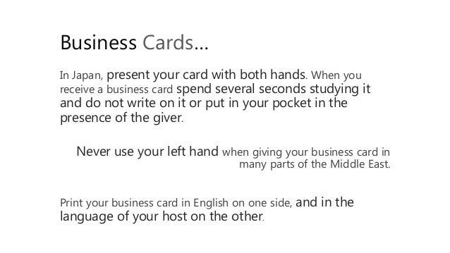 Cross cultural business etiquette 25 reheart Choice Image