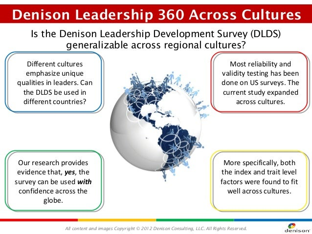 Denison Leadership 360 Across Cultures    Is the Denison Leadership Development Survey (DLDS)            generalizable acr...