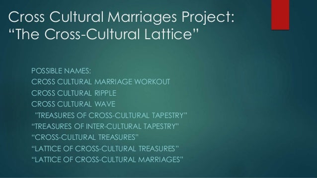 what is cross cultural marriage