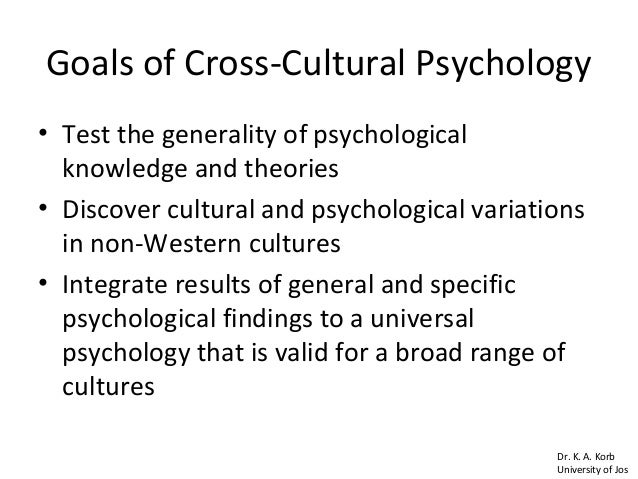 the relationship between cultural and cross cultural psychology A challenge for applied cross-cultural psychology: contact zones between   highlight the relationship between individual preference and the adoption and.