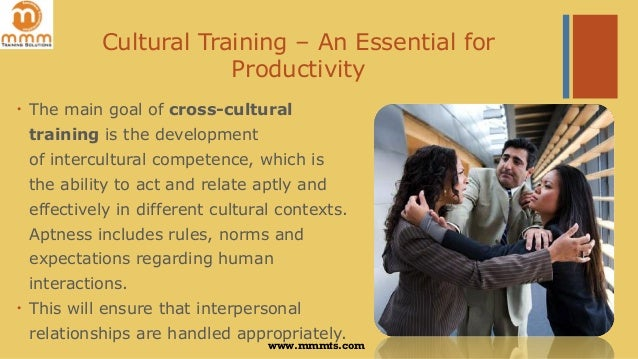 Cross Cultural Training  An Essential for Productivity