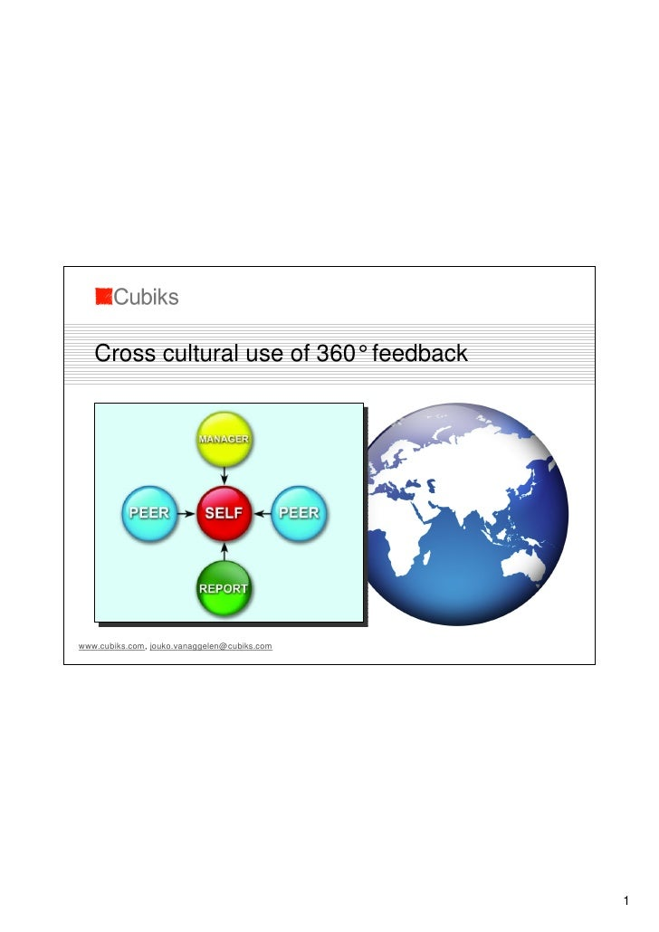 Cross cultural use of 360°feedback     www.cubiks.com, jouko.vanaggelen@cubiks.com                                        ...